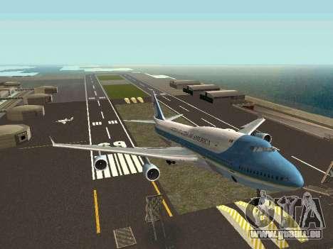 Boeing-747-400 Airforce one pour GTA San Andreas vue de droite