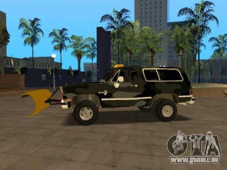 Chevrolet Blazer pour GTA San Andreas laissé vue