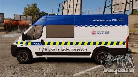 Fiat Ducato Manchester Police [ELS] pour GTA 4 est une gauche