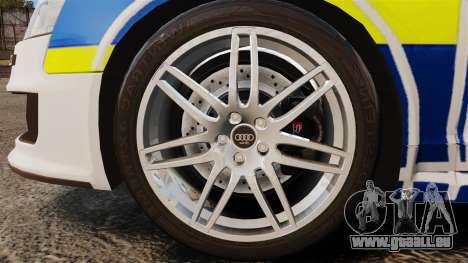 Audi RS6 Avant Metropolitan Police [ELS] pour GTA 4 Vue arrière