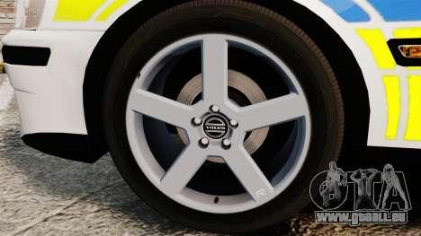 Volvo S60R Police [ELS] pour GTA 4 Vue arrière