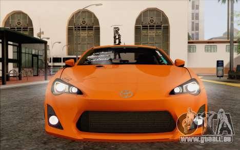 Toyota GT86 Lowstance für GTA San Andreas Seitenansicht