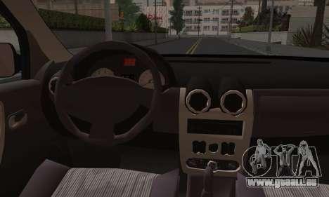 Dacia Logan pour GTA San Andreas vue de dessous