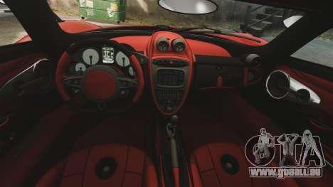 Pagani Huyara [EPM] pour GTA 4 vue de dessus