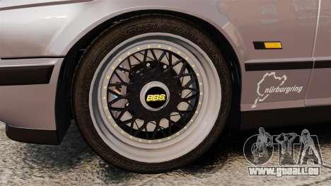 BMW M5 E34 pour GTA 4 est une vue de l'intérieur