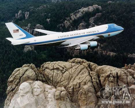 Boeing-747-400 Airforce one pour GTA San Andreas salon