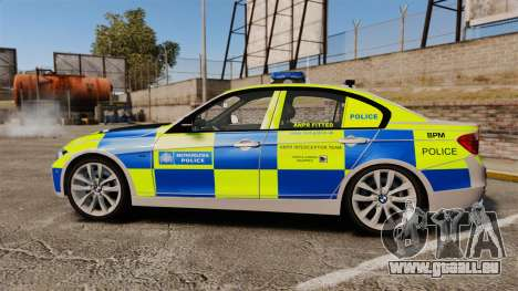 BMW F30 328i Metropolitan Police [ELS] pour GTA 4 est une gauche