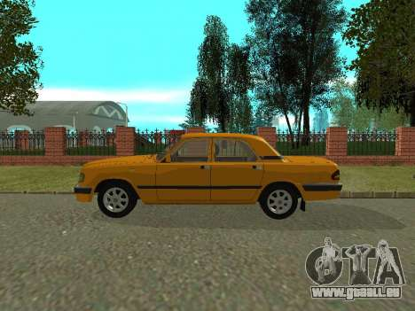 GAZ 3110 Wolga für GTA San Andreas zurück linke Ansicht