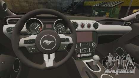 Ford Mustang GT 2015 Police pour GTA 4 Vue arrière