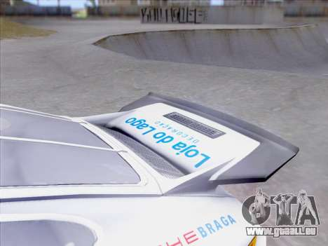 Porsche 911 RSR 3.3 skinpack 1 pour GTA San Andreas vue de dessus