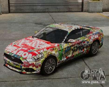 Ford Mustang GT 2015 Sticker Bombed für GTA 4