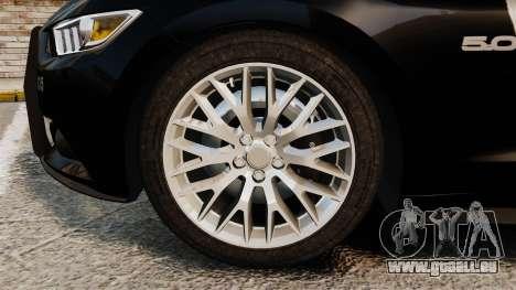 Ford Mustang GT 2015 Police pour GTA 4 est une vue de l'intérieur