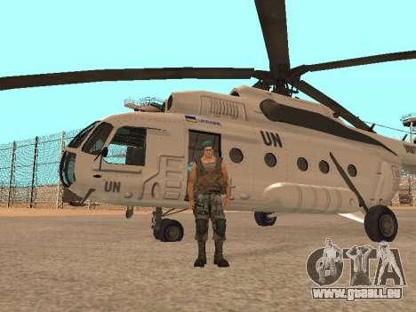 Formulaire pour CJ pour GTA San Andreas troisième écran