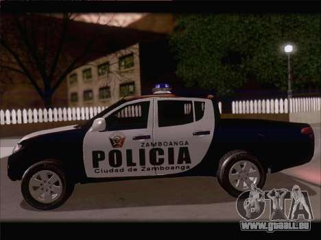 Mitsubishi L200 POLICIA für GTA San Andreas Rückansicht
