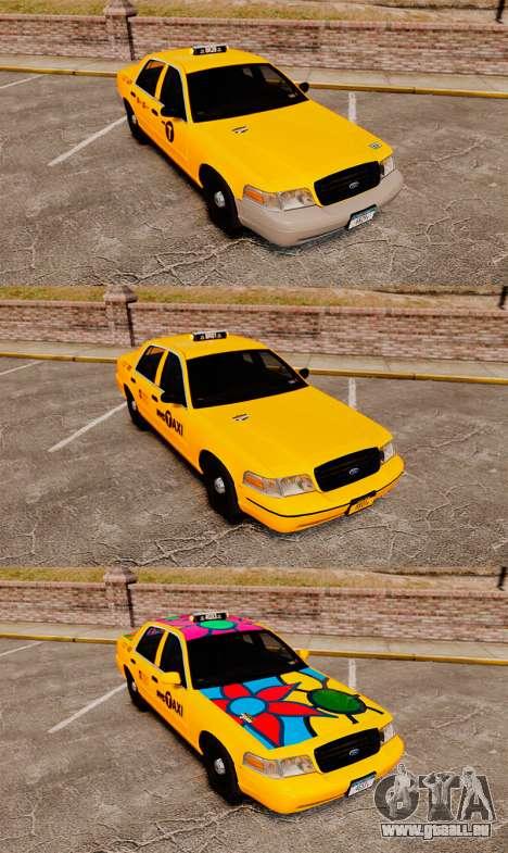 Ford Crown Victoria 1999 NYC Taxi v1.1 für GTA 4 Innenansicht