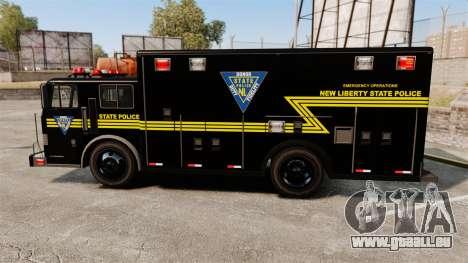 Hazmat Truck NLSP Emergency Operations [ELS] pour GTA 4 est une gauche