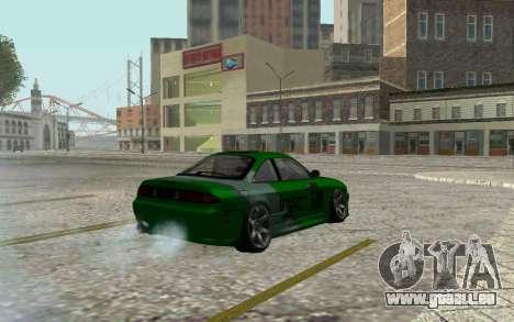Nissan Silvia S14a pour GTA San Andreas sur la vue arrière gauche