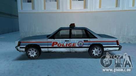 BETA Police Car pour une vue GTA Vice City de la gauche