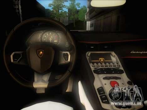 Lamborghini Aventador LP720 pour GTA San Andreas vue intérieure