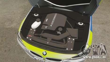 BMW F30 328i Metropolitan Police [ELS] pour GTA 4 est une vue de l'intérieur