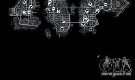 Emplacement StartMap pour GTA 4 cinquième écran