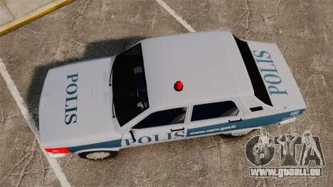 Renault 12 Turkish Police [ELS] für GTA 4 rechte Ansicht