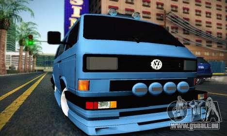 Volkswagen Transporter T2 Tuning pour GTA San Andreas laissé vue