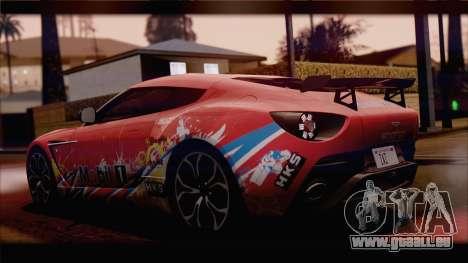 Aston Martin V12 Zagato 2012 [HQLM] für GTA San Andreas zurück linke Ansicht