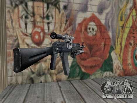 AK-47 d'un harceleur pour GTA San Andreas deuxième écran