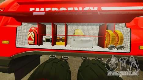Pro Track SR2 Firetruck [ELS] für GTA 4 Innen