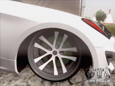Hyundai Genesis Stance für GTA San Andreas zurück linke Ansicht