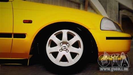 Honda Civic 1.4is TMC pour GTA San Andreas vue de droite