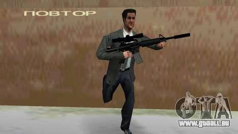 M4 avec le fusil de Sniper pour le quatrième écran GTA Vice City