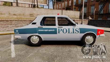 Renault 12 Turkish Police [ELS] für GTA 4 linke Ansicht
