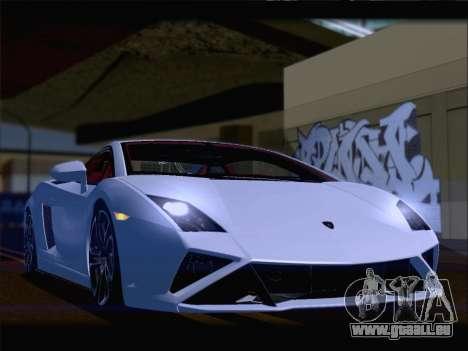 Lamborghini Gallardo 2013 pour GTA San Andreas vue de dessous