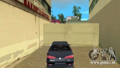 Peugeot 607 V6 pour GTA Vice City sur la vue arrière gauche