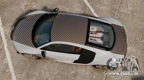 Audi R8 GT Coupe 2011 Drift für GTA 4 rechte Ansicht