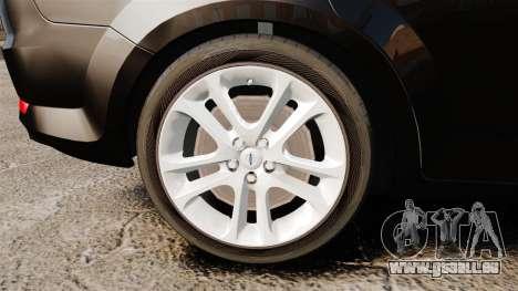 Ford Mondeo Unmarked Police [ELS] pour GTA 4 Vue arrière