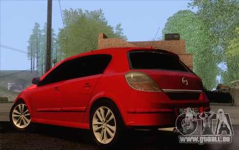 Opel Astra H pour GTA San Andreas laissé vue