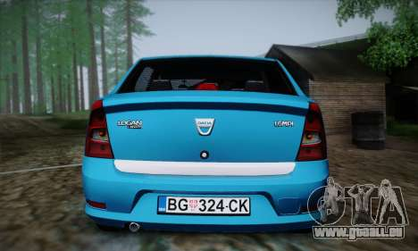 Dacia Logan pour GTA San Andreas vue de côté