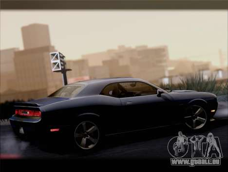 Dodge Challenger SRT8 2012 HEMI für GTA San Andreas Unteransicht