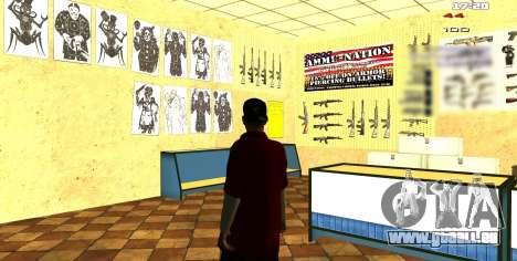 Deux axées sur l'intérieur changer pour GTA San Andreas troisième écran