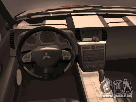 Mitsubishi L200 POLICIA pour GTA San Andreas vue de dessus