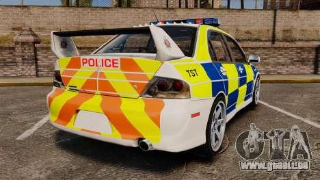 Mitsubishi Lancer Evolution IX Police [ELS] pour GTA 4 Vue arrière de la gauche