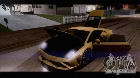 Lamborghini Gallardo LP560-4 Coupe 2013 V1.0 pour GTA San Andreas moteur