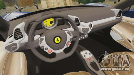 Ferrari 458 Italia Liberty Walk pour GTA 4 est une vue de l'intérieur