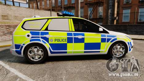 Ford Focus Estate 2009 Police England [ELS] pour GTA 4 est une gauche