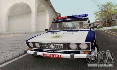 VAZ 2106 Police pour GTA San Andreas laissé vue