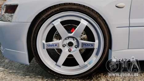 Mitsubishi Lancer Unmarked Police [ELS] für GTA 4 Rückansicht