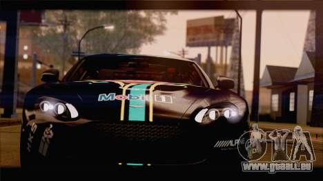 Aston Martin V12 Zagato 2012 [HQLM] pour GTA San Andreas vue intérieure